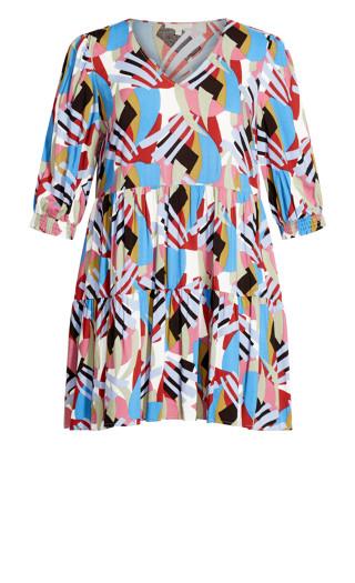 To The Max Mini Dress - blue multi