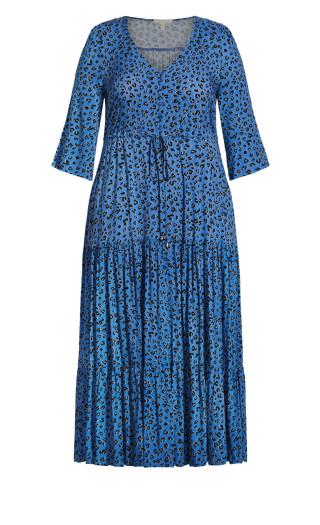 Endless Sun Maxi Dress - blue animal