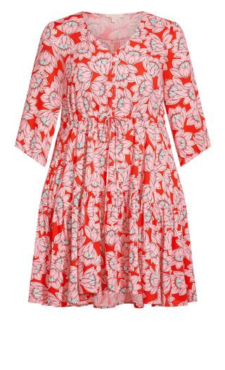 Endless Sun Dress - pink floral