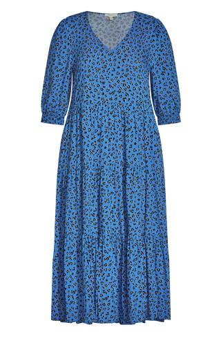 To The Max Dress - blue animal