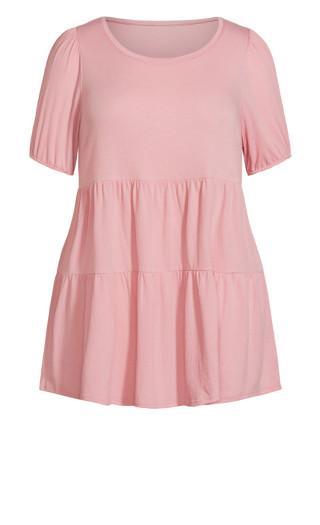 Lylah Tiered Dress - pink
