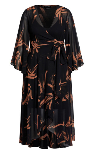 Fleetwood Swish Maxi Dress - black