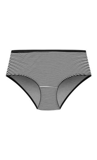 Smooth & Chic Print Classic Brief - black