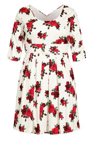 Miss Vintage Dress - ivory
