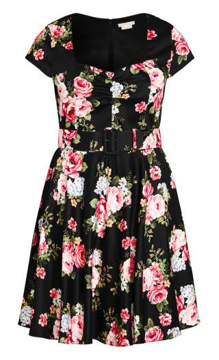 Sweet Vintage Dress - black