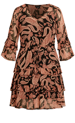Paisley Lust Dress - black