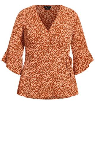 Leopard Top - copper