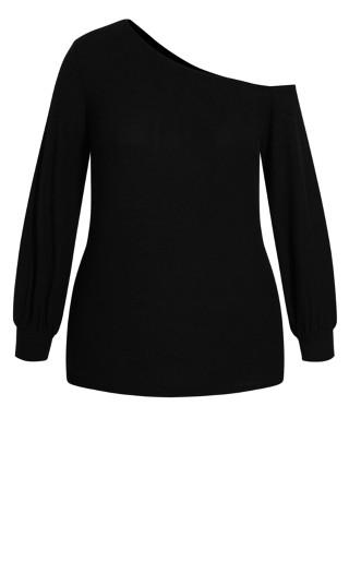 Shoulder Lust Top - black