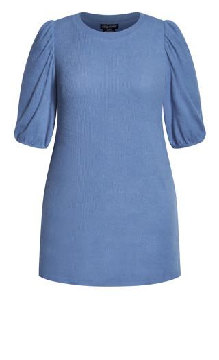 Cosy Knit Dress - dusty blue