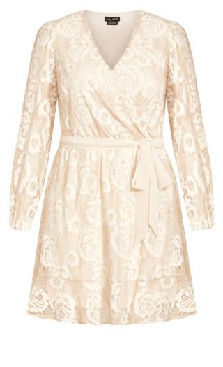 Lace Fly Away Dress - beige