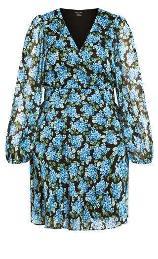 Blue Bunch Dress - blue