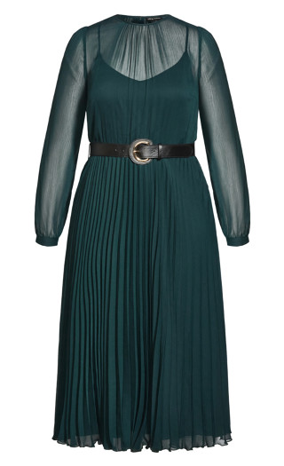 Blue Bay Dress - emerald