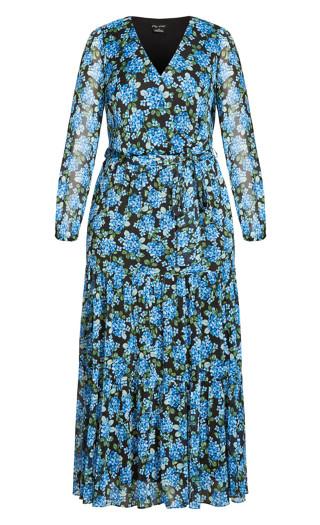 Blue Bunch Maxi Dress - blue