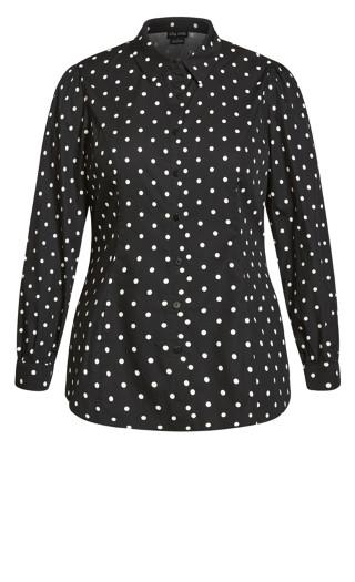 Blue Spot Shirt - black