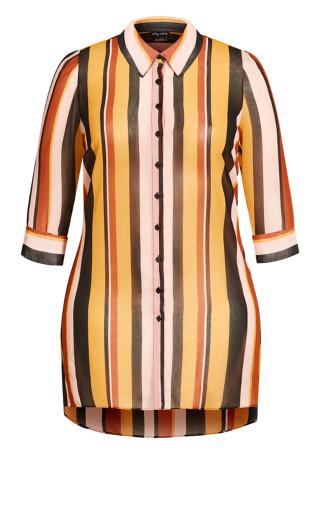 Gold Stripe Tunic - gold