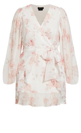 Delicate Rose Dress - white