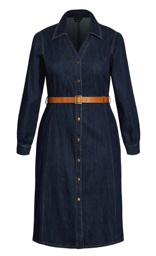 Midnight Denim Dress - indigo