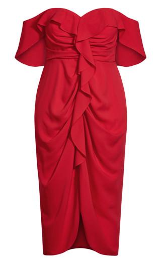 Va Va Voom Dress - scarlet