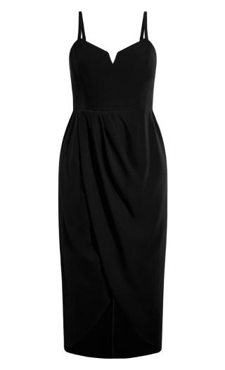 Sassy V Dress - black