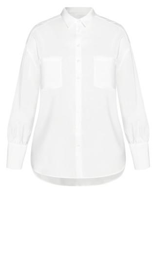 Sleek Pocket Shirt - ivory