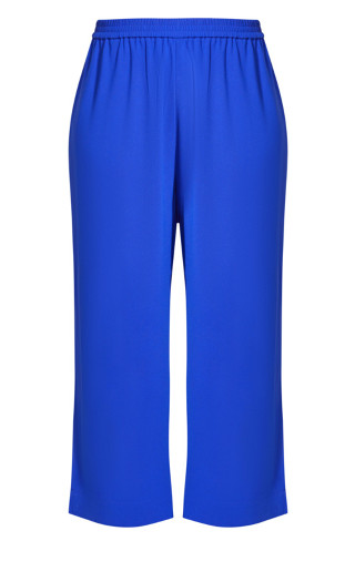 Chic Split Pant - cobalt