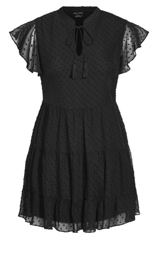 Sweet Dobby Dress - black