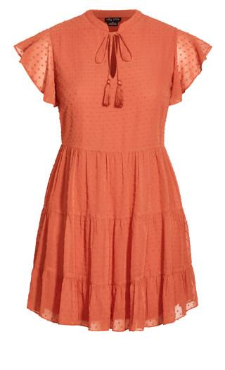 Sweet Dobby Dress - paprika