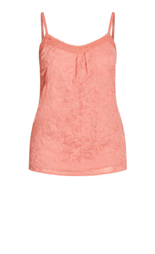 Misty Embroidered Top - rose
