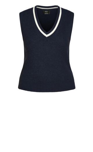 Varsity Vest Jumper - blue