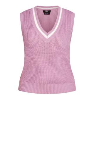 Varsity Vest Jumper - pink