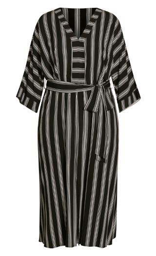 Casablanca Stripe Dress - black