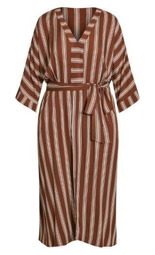 Casablanca Stripe Dress - clove