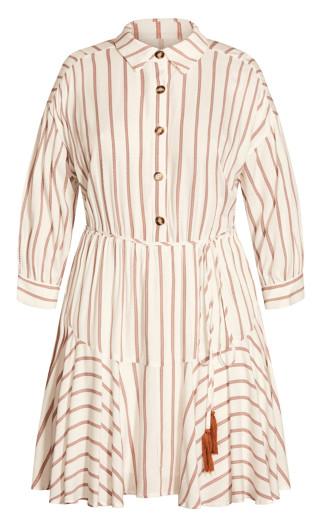 Contempo Stripe Dress - ivory
