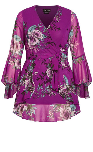 Wild Flutter Dress - magenta