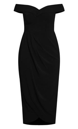 Ripple Love Dress - black