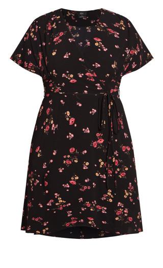 Pretty Ditsy Dress - punch