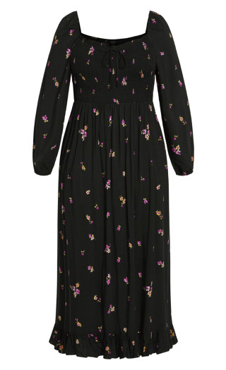 Sweet Petal Maxi Dress - black