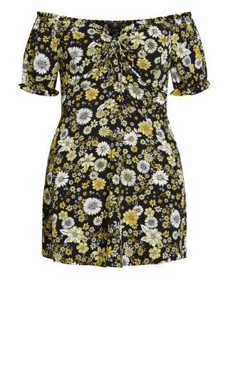 Vintage Floral Dress - black