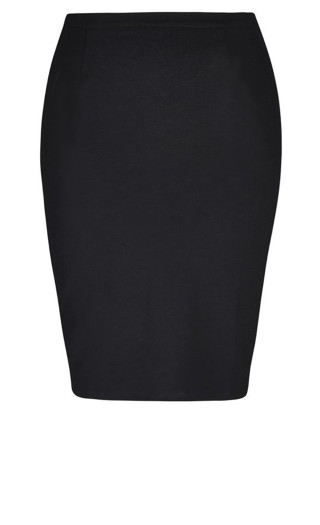 Midi Tube Skirt - black