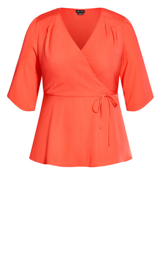 Wrap Me Up Top - coral