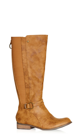 Phoebe Knee Boot - caramel