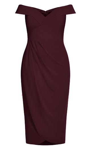 Rippled Love Dress - oxblood