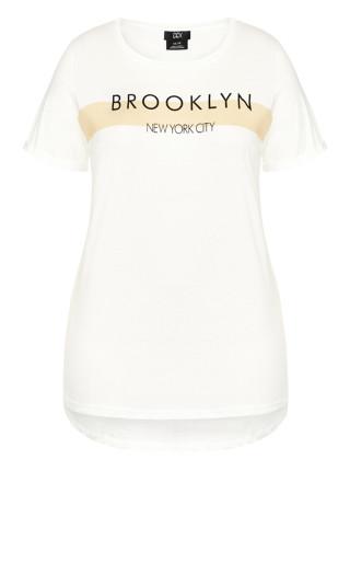 Brookyn Girl Tee - ivory