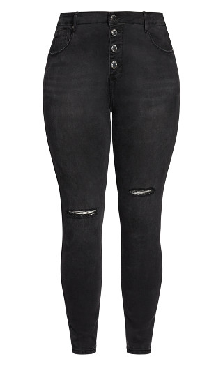 Harley Classic Buttons Jean - black
