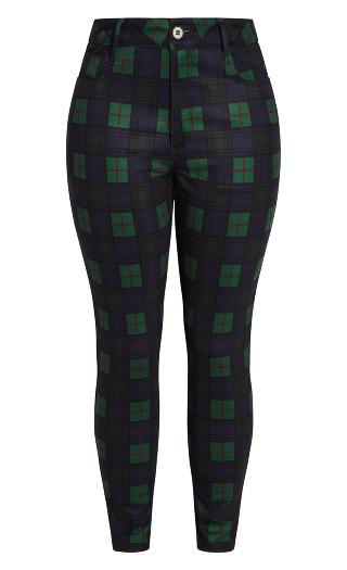 Cosy Check Pant - green