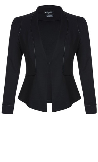 Piping Praise Jacket - black