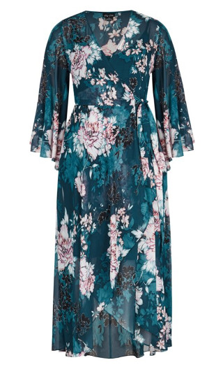 Jade Blossom Maxi Dress - jade
