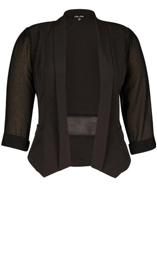 Drapey Blazer Jacket - black