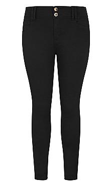 Asha Regular High Rise Skinny Jean - black