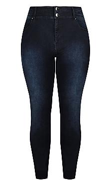 Harley Short Skinny Jean - dark denim